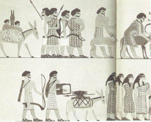 Bilde 4 Hyksos fraGosen på besøk til faraoene i 12 dynasti lenger sør
