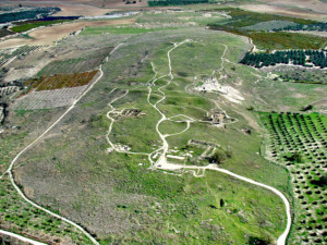 gezer-aerial-overview fra syd mot nord