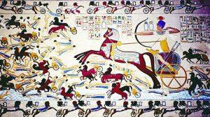 Ahmose angriper Hyksoslederne og tar folket til fange og tvangarbeid.